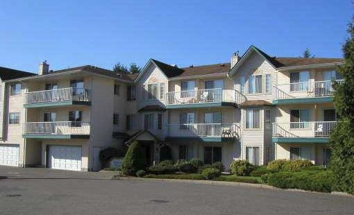 Affordable Abbotsford condo! Take a close look at this spacious 1025 sq ft 2 bedroom, 2 bath, south west facing corner unit, privately situated to offer a quiet setting, with great views!! Building complex is undergoing continuous upgrades. This condo makes an excellent first time or retiree option. Very centrally located with walking distance to many amenities! Would also be a great rental investment in growing city of Abbotsford!