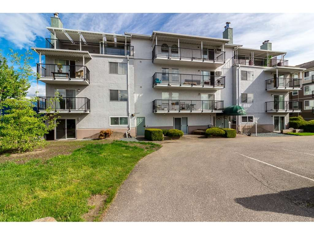 Updated and Reno'd corner unit. Enjoy the sun from a southern exposure in this bright 2nd floor unit with mountain views. Centrally located, this suite has new Stainless Steel appliances and has been tastefully renovated from head to toe. Easily one of the nicest units in this well run, age restricted 55+ complex. In suite laundry, storage locker, parking right by the door. 2 large bedrooms, 1 bathroom and new hot water tank. Come check this place out! You won't be disappointed!