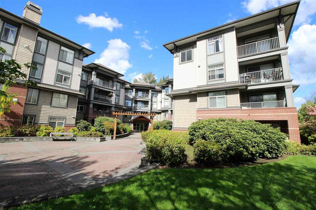 WESTBROOKE COMPLEX is a superb well maintained building, prime location home in West Maple Ridge. Bright, spacious 1 bedroom unit with laminate flooring throughout. Open kitchen concept with GRANITE countertops including centre island and BRAND NEW stainless steel appliances, his and hers closet, good size balcony. Gas fireplace is included in the maintenance fees. Guest suite available. Central location - close to everything, schools, shops, Westcoast Express and the Golden Ears bridge. Bus stop is just across the building. tenants month to month. 24 hour notice required. MOTIVATED SELLER.   OPEN HOUSE: SATURDAY,MAY 19 & SUNDAY, MAY 20 BETWEEN 2-4 PM