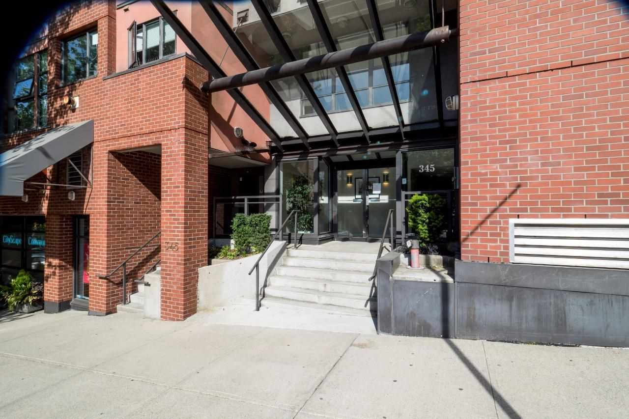 """This spacious one bedroom in the sought after """"The Met"""" building is a must see for those who want to be steps away from it all, while maintaining quiet and private living. Ideal for pet owners, as this home is a ground floor unit facing into the courtyard, on the quiet side of the building with patio. An added bonus is this unit only shares one wall with another unit! On top of being completely repainted, updates include: gorgeous bamboo flooring, granite fireplace mantle, new roller blinds, and the building itself has been completely re-piped. Find amazing restaurants, shops, and activities right outside your front door with quick access to transit by bus or seabus at Lonsdale Quay. Insuite laundry, open floor plan with large kitchen, and a gas fireplace. This home has it all."""
