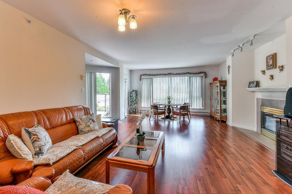 Welcome to HighPoint Garden. Very Rare & Unique 2 bed, 2 bath, 1,505sq.ft. spacious condo. PH Level Corner Unit facing quiet townhome with forest view. Stunning Entrance Lobby with Open Sky Roof. 2 Underground Parking Lots with a Storage. Whole Building (Interior & Exterior) Renovated in 2009. Great Amenities (Heated swimming pool, table tennis, fitness Rm) Quiet btw neighbours since it's a concrete building. Big Spacious rooms, Seperate Kitchen with Granite Countertops, Gas Firepit in LivingRm. Central location in Guildford (walking distance) with the conveniences of New Guildford Mall, Walmart, Superstore, T&T, Banks, Green Timber Park (with Lake), Transportations, #1Hwy Access, schools (J.H Secondary School & Bonna Elementary School)