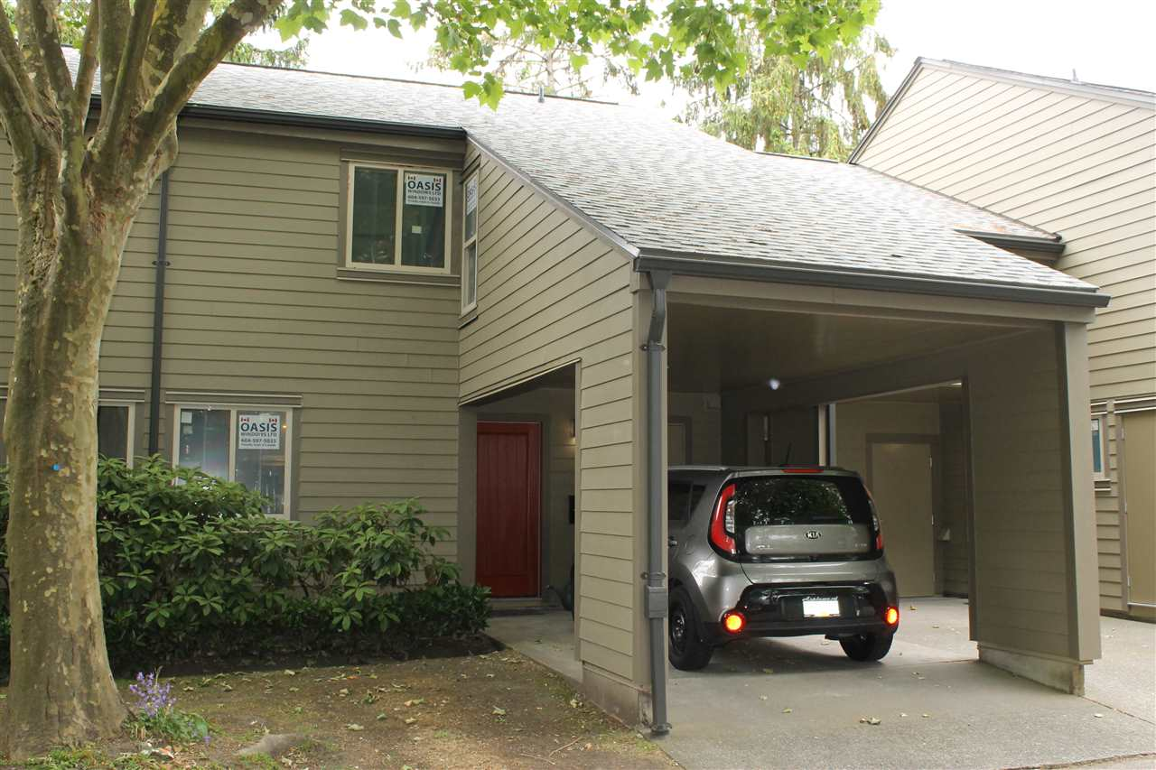 "Fantastic opportunity in ""The NEW TIMBERWOOD!"" This popular, centrally located complex is going through a complete exterior upgrade and this unit now has NEW HARDI PLANK siding, NEW WINDOWS and Doors, NEW ROOF, and NEW GAS FIREPLACE! Its like a new complex but at a fraction of the price! Very Spacious 3 bedroom unit is in ""Original Condition"" and requires updatng. Storage room up could be an office or kids playroom. Upstairs 1 and 1/2 bathrooms easily converted to 2 full. Built in Vacuum. Reasonable Strata fees. This is a super complex for young families with lots of greenspace and play areas as well as an outdoor pool and clubhouse. Seller will pay the entire $68,000 special assessment for all the work, so buyers get a real bonus here!"