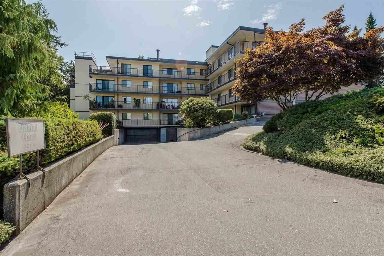 GREAT BUILDING GREAT LOCATION - Extensive updates to this building and excellent strata leadership makes this a fantastic choice. Ideal for young couples, professionals or retirees. Spacious 2 bedroom 1 bathroom 958 sq ft 3rd floor unit with south exposure. Mega bright south facing deck new vinyl new railing. Buildings boasts updated common room and lobby, new fire panel and hot water system. New soffits, roof, with downspouts, ventilation upgrade, fresh exterior siding, LED perimeter lights. Current owner has enjoyed 33 years of quality living in this centrally located home near library, shops, Dr.s, churches and commuter corridors. 30+ age restriction, no pets, no rents. COLLAPSED OFFER NOV 3.  Easy to show and quick possession is possible.