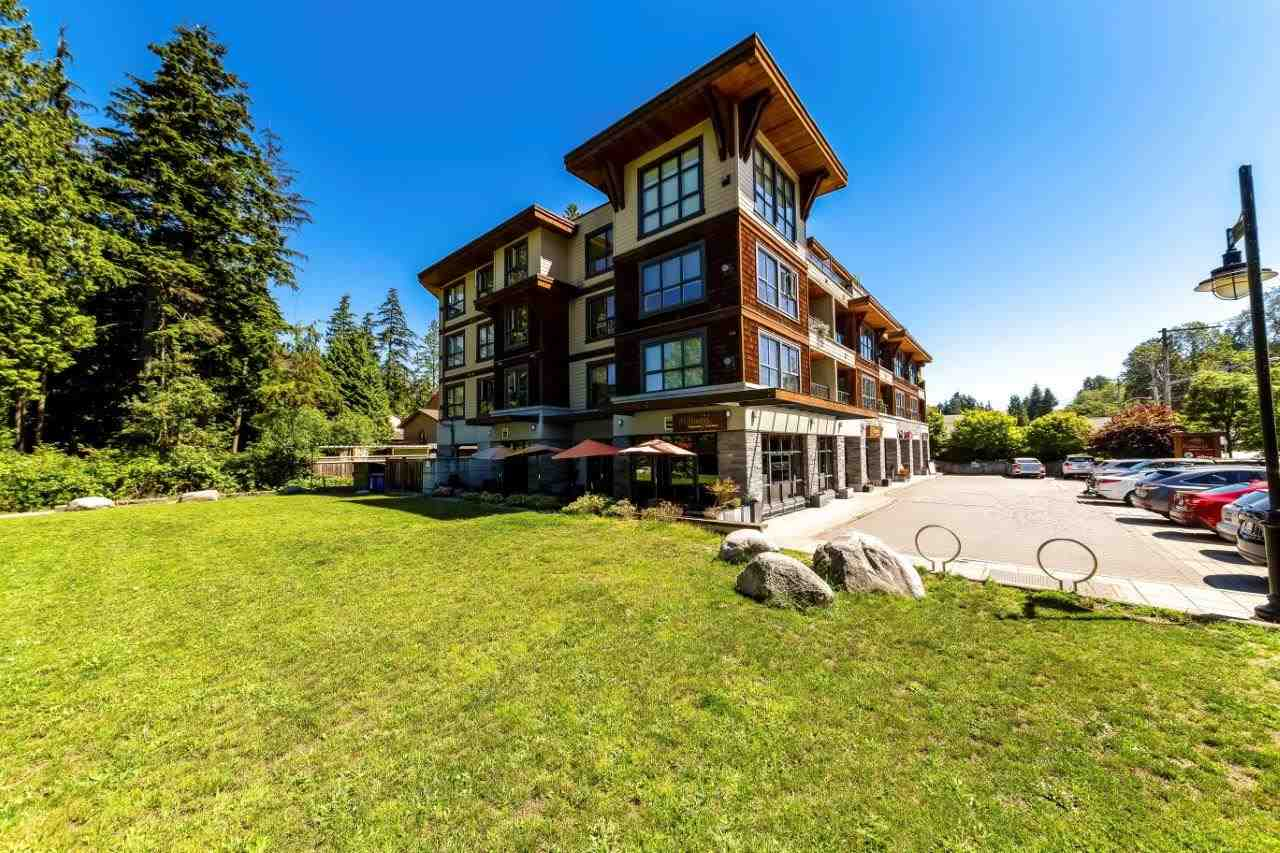 Nature's Cove! Located across from Seymour Golf course and close to shopping, library, gym, trails, skiing, and hiking trails-just a stone's throw from the epic village of Deep Cove! This near new boutique condo was built green and offers bamboo flooring, stainless steel appliances, California Closets and a spacious deck facing the Golf Course-perfect for barbecues and summer nights. The open floor plan allows for easy decorating. One parking, one storage, dogs and rentals allowed! Come home to Nature's Cove. Open Sunday, August 19, 2-4