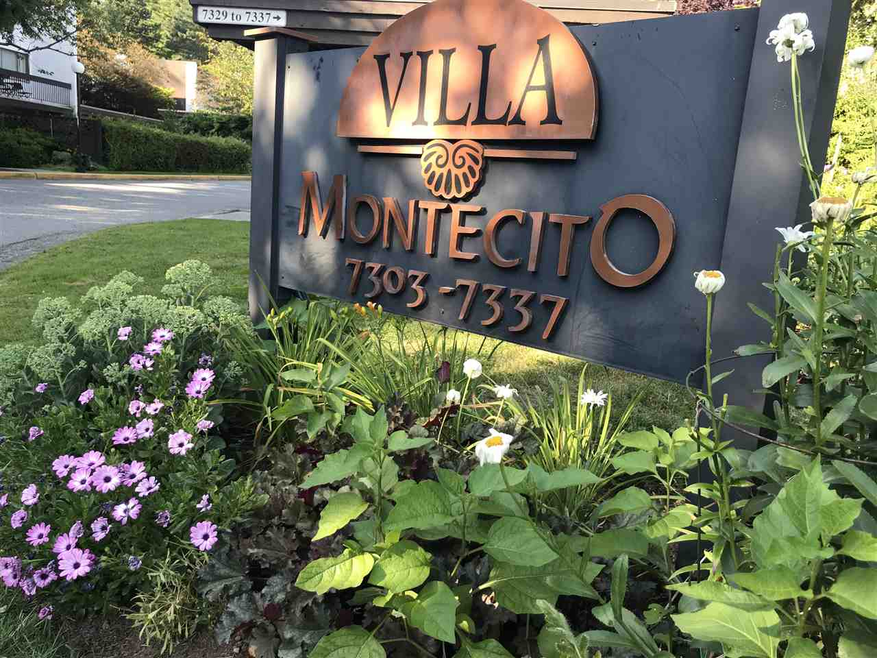 Villa Montecito - 2 storey townhome located in a nice and quiet neighbourhood. Contains 3 bedrooms and 2 1/2 bathrooms with new paint, two new skylights, updated kitchen with quartz stone counter top, updated bathroom and laundry room. Main floor has a large outdoor west facing balcony overlooking the greenbelt. A very well run complex with beautiful garden and outdoor pool for your summer enjoyment. Walk to Montecito Elementary School, shopping, parks & Burnaby Mountain Golf Course. 10 minutes drive to SFU. Close to public transit and skytrain.