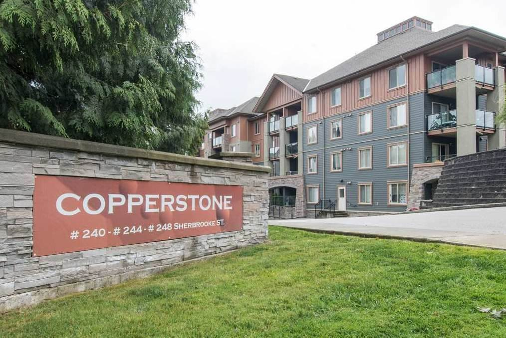 Welcome to the sought after Copperstone: this beautiful unit is only 10 yrs old but have already been updated. New wood floors, new carpet, new countertops, and new appliances. This 2 bed+Den/2bath is definitely a one of a kind and is very well kept and maintained. Walking distance to everything, it is only a 7 min walk to Sapperton Sky Train Station, a 3 min walk to Sapperton Park, a 2 min walk to Royal Columbian Hospital, a 10 min walk to Save On Foods, and a 15 min walk to Richard McBride Elementary School. This is truly a great place to live! Open House on Sun Nov 11th 12:00-3:00pm. CAN BE RENTED RIGHT AWAY!