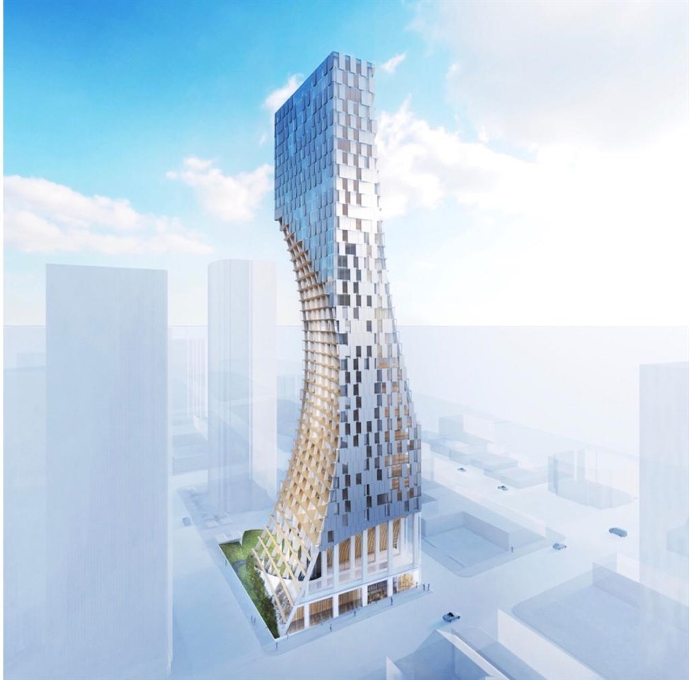 A uniquely shaped residential tower at 1550 Alberni designed by Kengo Kuma, a renowned Japanese architect, will be housing 188 units, and is surely to be a new iconic structure in Vancouver?s skyline when completed in 2021/2022.   Building SOLD OUT.  Developed by Westbank & Peterson Group this tower in Downtown?s Coal Harbour will visibly excite people from around the world.  Spoil yourself in this immaculate 788 square foot, 1 bedroom + flex corner unit, complete with its own balcony and 1 parking space.  All the units are finished using natural materials, craftsmanship and thoughtful detail such as the organic shape in all the towers units, and floor-to-ceiling glazing windows.  The building?s residents will enjoy a private inner garden, wine tasting room, listening (music) room, gym, indoor swimming pool, art gallery and so much more.   The project clearly is prime contemporary real estate with a tribute to the Japanese culture and one of its most prominent architects, Kengo Kuma