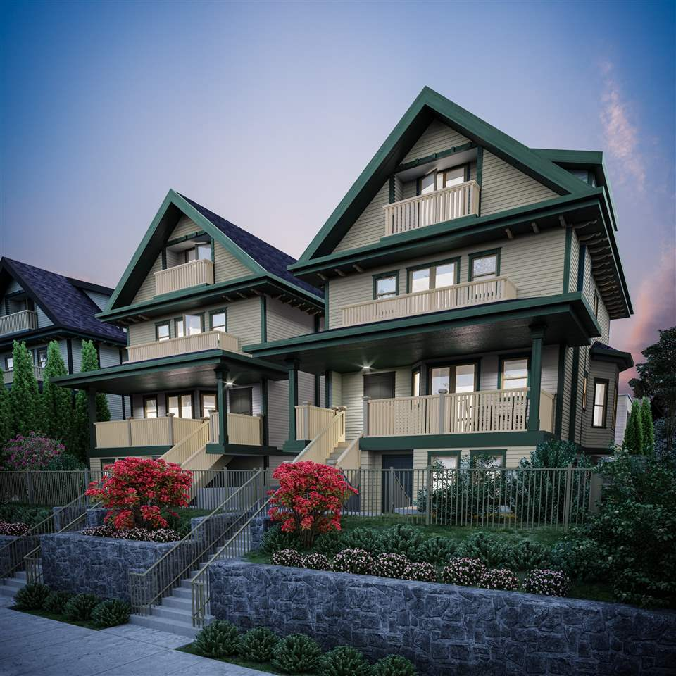 """Introducing """"West of Main"""" 6 expansive 3 bedroom townhomes, steps to Vancouver's iconic Main Street. This duplex style townhome offers privacy w/only 1 attached neighbor. A diverse floor plan provides privacy for all 3 bedrooms & boasts 2 full en-suite baths, a feature mature families love. A functional kitchen offering a large island, Miele appliances (gas range), white quartz counters & marble back-splash. Top notch features include A/C, hot water radiant in-floor heat & concrete topping on all levels. Luxurious baths w/extensive use of premium tile, seamless glass showers & tiled basins. The value of this family home is second to none, in a location with every amenity you could image. Book your private appointment today!"""