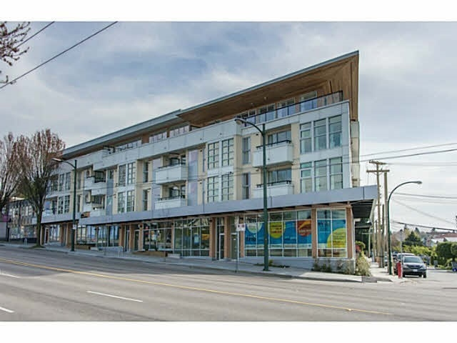 TRIO PRIME VICTORIA & KINGSWAY LOCATION.  GREAT INVESTMENT OR MOVE IN.  RENTALS ALLOWED WITH RESTRICTIONS.  THIS WELL DESIGNED SPACIOUS OPEN FLOOR PLAN AND BRIGHT UNIT HAS SUN DECK WITH VIEW.  VERY QUIET SOUTH FACING UNIT INCLUDES ONE PARKING AND ONE LOCKER.  EASY TO SHOW.