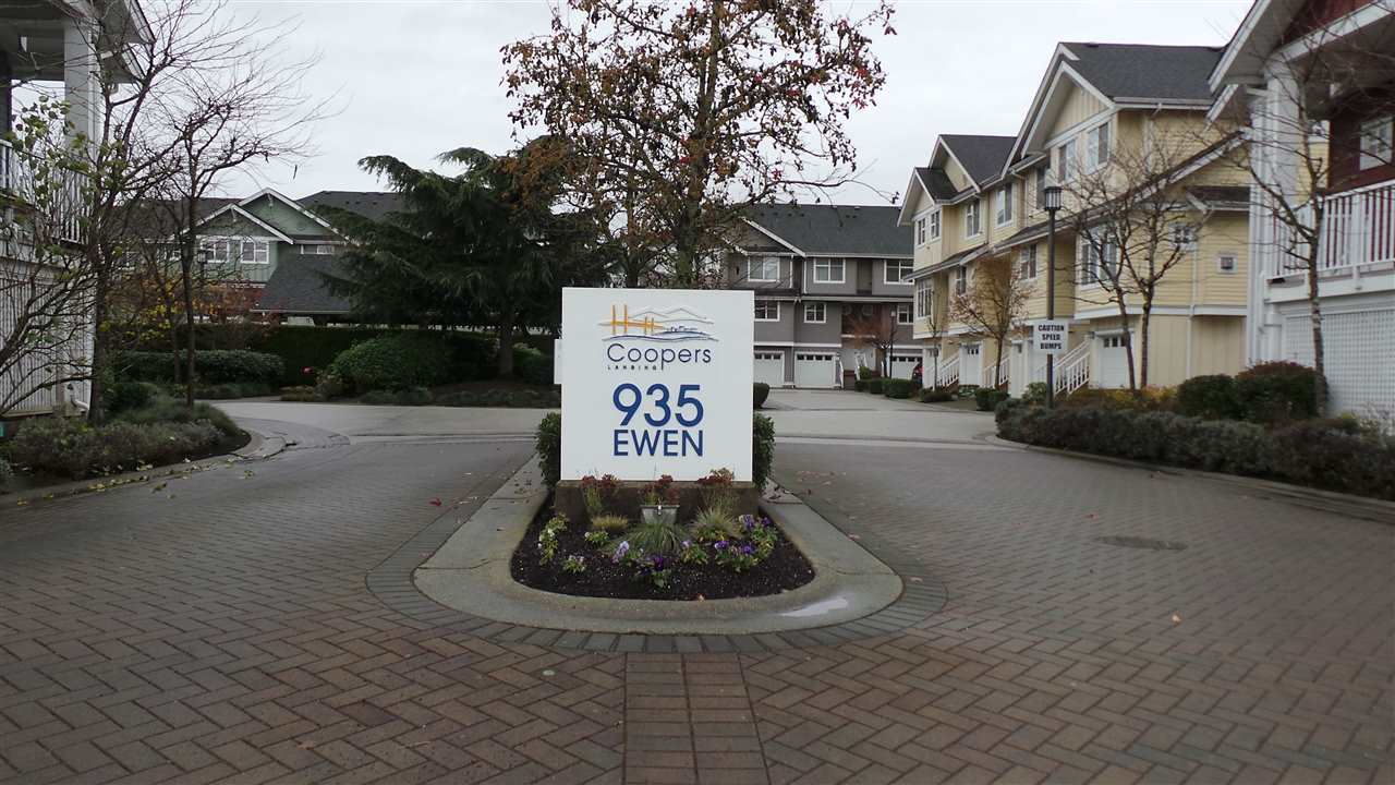 Welcome to this beautiful 3-bedroom & 3-bathroom townhouse in Coopers Landing - one of the most sought-after neighborhoods in Queensborough, New Westminster. This property has almost everything a family would need. It has a balcony, a fenced yard and a double tandem garage, which may be potentially converted for other use. The main floor features an open-concept kitchen, a dining room, a living room and a powder room. The upper floor has 3 bedrooms with a 4-piece bathroom and a 3-piece ensuite. The water boiler is just one year's old. A short distance away from a community centre, a shopping centre and parks. Easy to connect to 22nd St SkyTrain via Bus 104 and to Richmond city centre via Bus 410. Floor areas are based on  strata plan showing 1854 sf in total incl. a 451 sf garage.