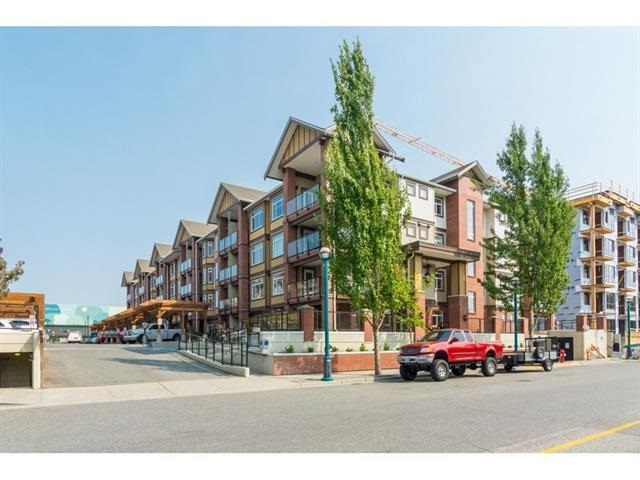 BRAND NEW RE BUILT CONDO! Paddington Station in the heart of downtown Langley. Terrific opportunity for investor, first time buyer or downsizer! Rebuilt from the foundation, Bright and spacious 1 Bedroom with open concept living room & huge patio off living room with accommodate a full size BBQ & patio set. All new stainless steel appliances and kitchen countertops with modern color scheme, beautiful new laminate flooring throughout, electric fireplace and air conditioning. 1 underground parking spot. This ground floor south facing unit is one of the best locations in the complex. Pet friendly, rentals allowed. Central location, near all shopping, restaurants, schools, casino, parks, transit.
