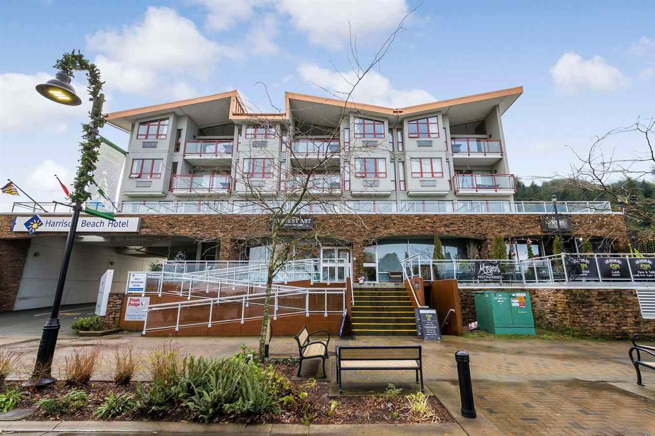 1/3 Ownership of beachfront upper floor unit in Harrison Beach Hotel. Centrally located close to shopping and restaurants, plus an impressive view of Harrison Lake and Mountains await you from this lovely unit! A great place to relax and enjoy Harrison Hot Springs, in your own special get away at the beach! Only a short 1.5 hr drive right to Vancouver. Unique fractional ownership with no strata fees or property taxes to be paid.  Sellers would consider a trade or partial trade for a motorhome/ coach newer than 2014.  Set up your appointment to have a look today!
