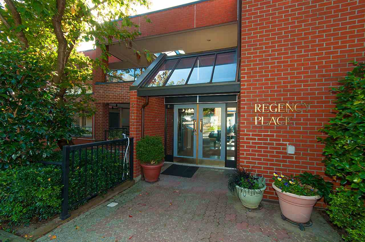 Rarely available 1250 sq. ft. ground floor unit in Regency Place, Dundarave. Very bright, newly painted suite with 10? ceilings, 2 beds and 2 baths. Some of the features include maple cabinets, granite countertops and hardwood floors. One parking stall and one storage locker are included. Unbelievable location, just steps to the Village with all of the amenities and a short walk to the beach, seawall, library, recreation centre and senior?s centre. Newly renovated lobby, lighting and front doors. Check out the video on the Realtor's website.