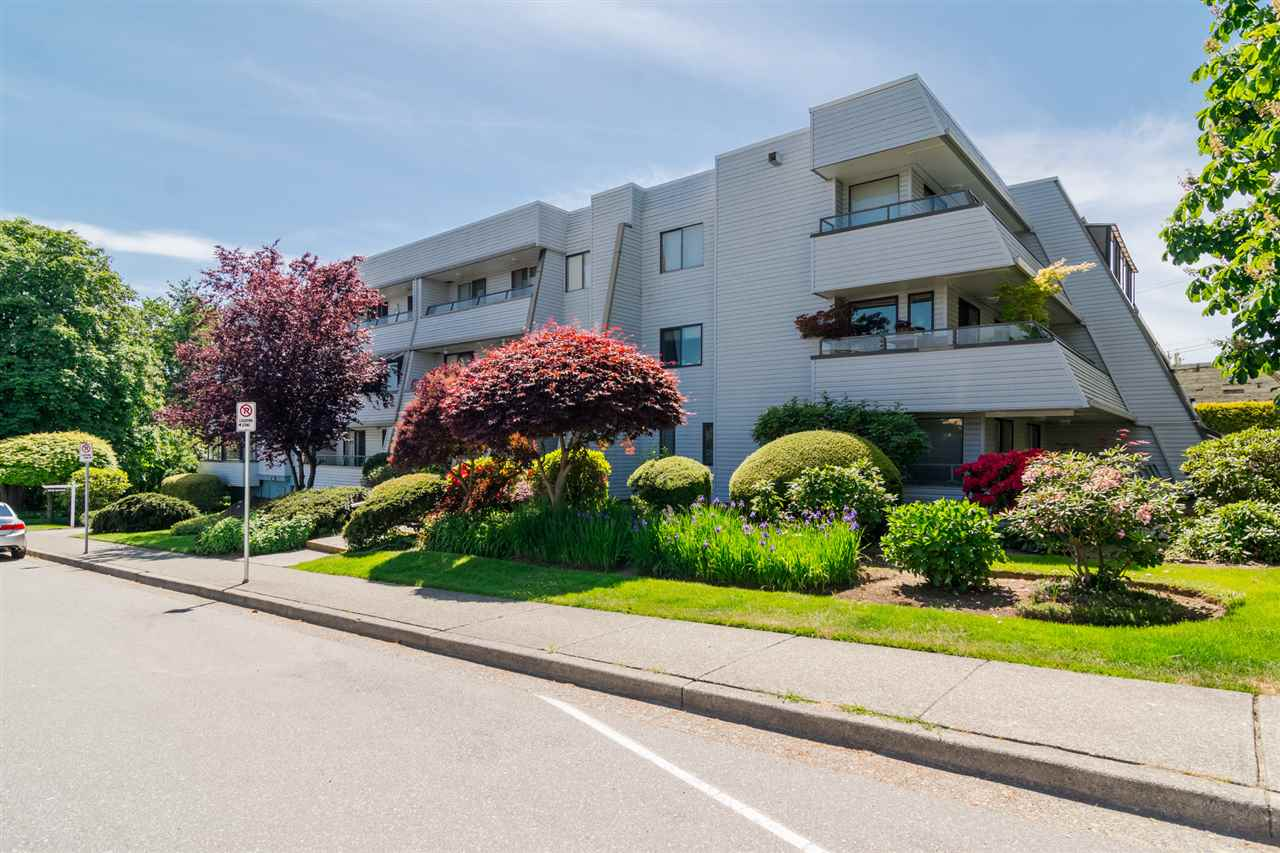 Top floor, corner unit condo with large wrap around balcony, partial view of Mt Baker and lots of natural light. Across the street from White Rock Elementary, close to Peach Arch Hospital, transit, shopping, restaurants, churches, 10 minute walk to beach. 2 bedroom unit with in-suite laundry and hot water tank, one secured parking stall, Beautiful Hardwood flooring with cork underlay, Peaceful, clean, and quiet building, Lots of closets for storage, newer white Bosch dishwasher, Great unit if you have your own design idea's, fibre optic has recently been installed, New Torch on roof recently, QUICK POSSESSION possible.
