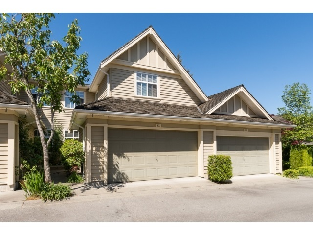 THE CARRINGTON immaculate 19+ complex with resort like amenities. This unit faces South, DOES NOT BACK onto 32nd Ave. Beautiful large open living/dining room, high ceilings. Eat in kitchen maple cabinets, granite counters. Large eating area, opening onto the family room. Access the fully fenced yard, with its lush gardens, undercover patio & privacy. Master suite upstairs with spa like ensuite, large w/in closet. 2 more bedrooms, main bath and large laundry room up. Enjoy the outdoor pool, hot tub, tennis courts. Easy access to Morgan Creek Golf Course. Great place to call home.