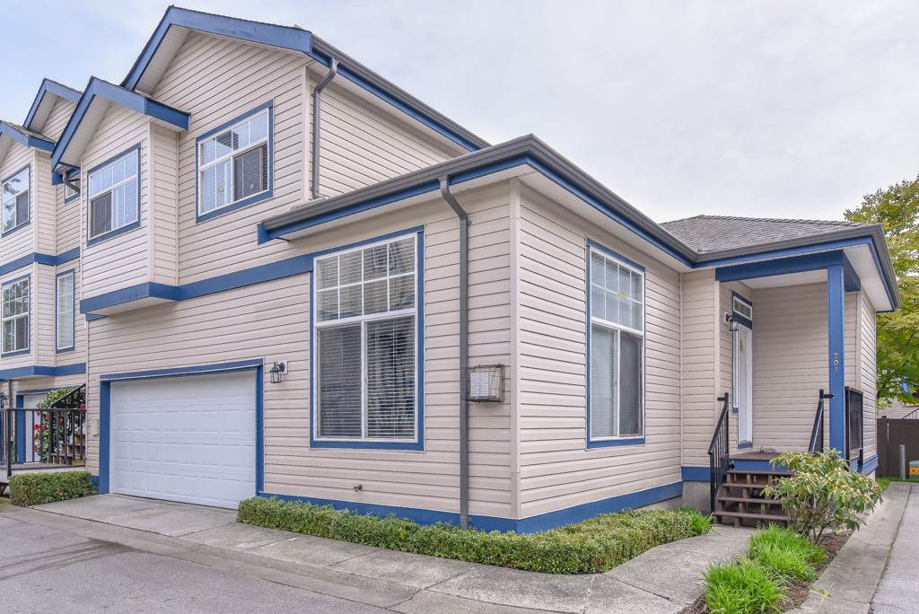 Near new Sky Train Route Fraser Highway.  Large Bright 2042 Square Foot End Unit at Wildwood Lane 149th and Fraser Highway. Three large bedrooms plus huge rec-room downstairs. Newly renovated with tile and laminate floors, new paint, new window coverings, new garage door, new fencing and more. A wonderful Family oriented complex with large spacious rooms . Centrally located offering quick access to shopping, Skytrain or Highway #1 plus this is steps to transportation on Fraser Highway, schools and shopping are nearby. Shows extremely well. Call for appointment.