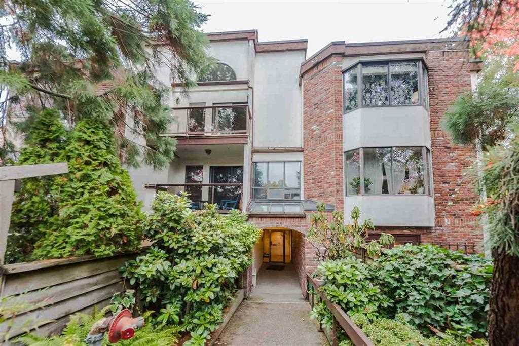 307?1775 W 10th, V6J 2A4?Bright & cozy 2 bed/2 bath with 2 balconies 900sf corner unit at Stanford Court, at 10th and Burrard-next to the Granville shopping district & less than 5 min to Granville Island. Suite feat. in suite laundry and storage, vaulted ceilings w/2 skylights, 2 balconies wood FP and HW floors. Suite is in original condition awaiting your decorating ideas. One of the best valued suites in Fairview. Available for immediate occupancy. Pet & rental friendly with restrictions, 2 Rentals allowed but at capacity. New pipes & boiler(2017), new fencing(2015) & new roof membrane(2014). Units in this well-maintained, 21-home building are rarely available, don't miss out! 1 Parking(P13) & 1 Storage(#11). (Common Property) Contingency $46K.