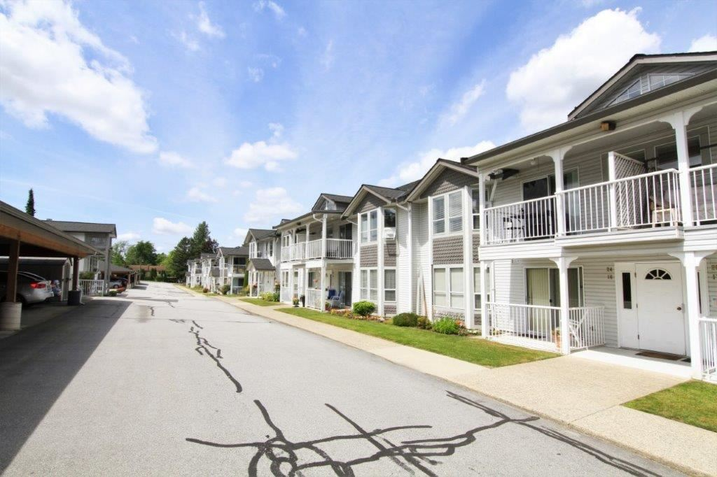 LOCATION, QUIET UPPER FLOOR, RV PARKING ~ Superb location in the heart of Maple Ridge, walking distance to every amenity possible. This nicely updated unit has a superb floor plan with large room sizes, decks facing both front and back with peak-a-boo of the mountains, updated kitchen (appliances/cabinets/counters/backsplash/etc), updated bath (custom cabinet, low profile walk-in shower, etc), updated laminate & tile/lighting/crown molding/etc., BIG laundry room with a ton of storage. Superbly run adult strata (19+ age) w/great financials & roof only approx. 5 yrs young. BONUS: RV PARKING!! (one cat/no dogs, 4 rentals allowed however currently at max.)