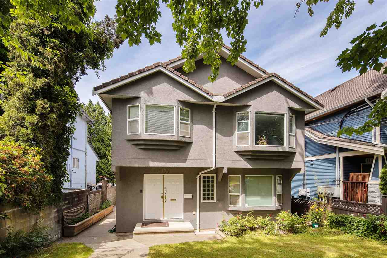 Why buy a tear down for $1.5 mil? Better buy this move in condition, oversized 1/2 duplex! This RARE home sits on 1/2 of a HUGE lot 40'x173' =6920 sf. looks like & lives like a single house! Spacious & bright, excellent floor plan: living room w/bay window & gas fireplace, kitchen & eating nook. 3 bdrms up w/2 baths, ensuite w/jacuzzi tub, radiant in-floor heating, single garage + open parking & ample carwl space storage. Beautiful cherry blossom trees nearby, this front unit has a big south front yard. Hot Mt Pleasant neighbourhood. Bonus: 2-3 bdrm mortgage helper above ground w/sep. entry. Great central location, great neighbours, close to shops, restaurants, transit & walking distance to good schools (Charles Dickens + Tupper) & parks.. Open House Sat July 6 : 2-5 pm .