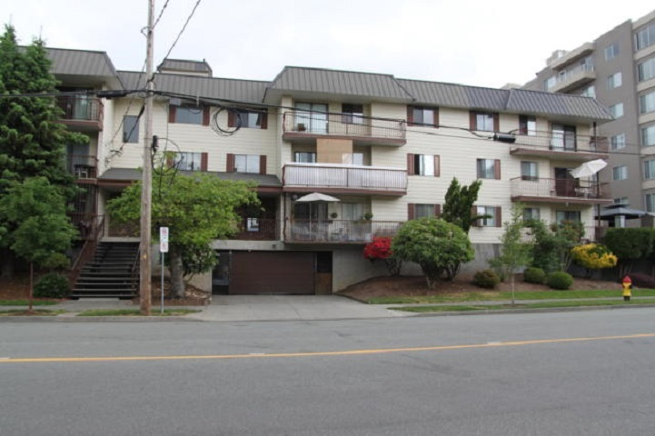 Very neat and clean, fully rentable 1 bedroom, 1 bath apartment in very well run Chilliwack Gardens. Good, long term Tenant paying $650 per month. Shared laundry and Strata Fee is $224.93 per month. Property taxes approx. $41 per month. New roof has been voted on and approved. Council has also approved water treatment for copper pipes. Chilliwack Gardens is centrally located and easy walking distance to shopping and transit. Underground parking is available and is assigned by property manager. Very easy rental building.