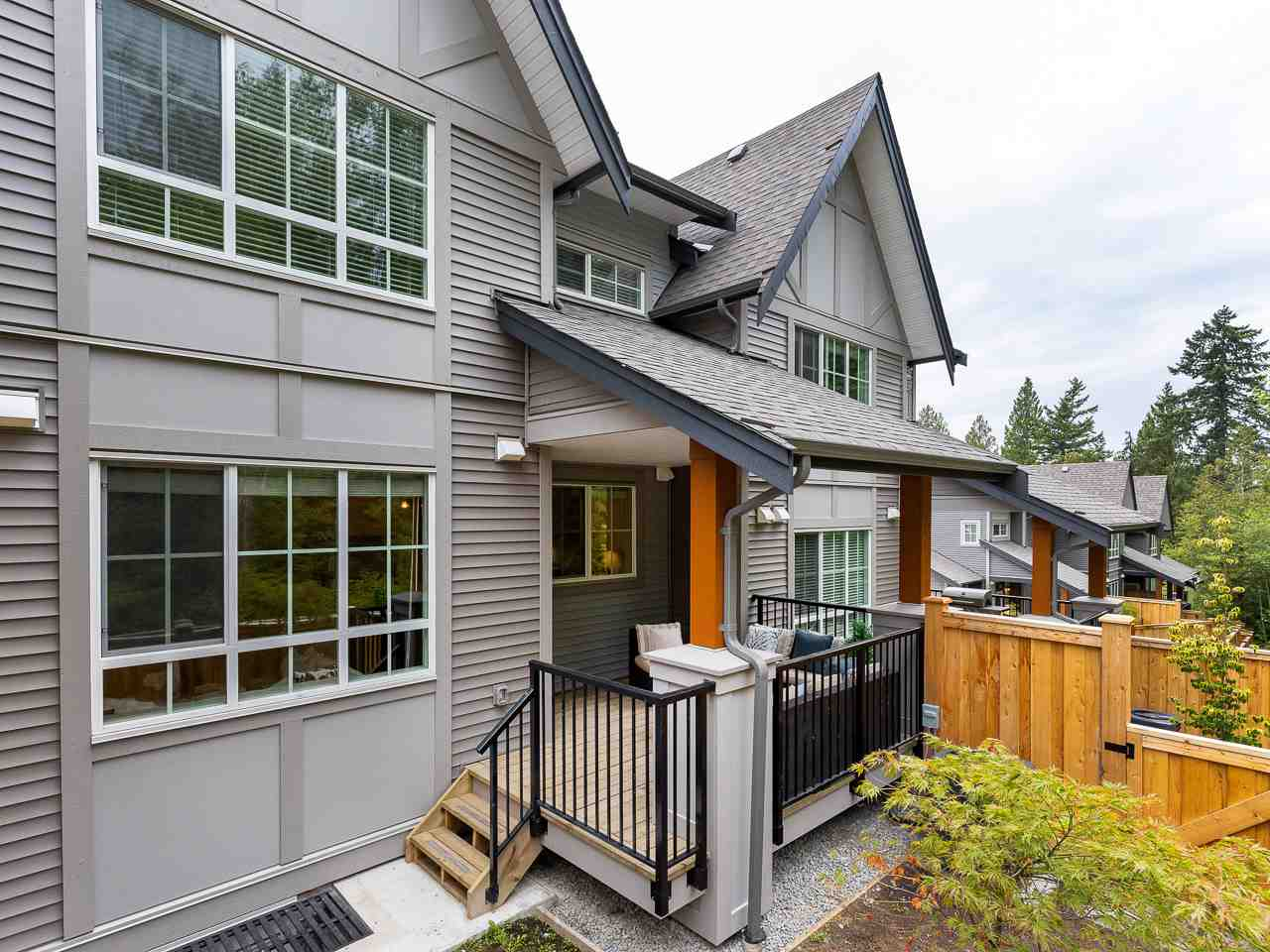 Stunning new tudor-style 4 bed/4 bath townhome in Kanaka Hills, just like a detached home, no front hall stairs. Living areas, yard & 2-car garage all on one level, the largest & most sought-after plan in complex. Notable features: contemporary white & grey interior finishes w/ large kitchen island, upgraded pantry & SS appliances incl. gas stove. Large bedrooms with green belt views & family room below. Lush patio off the living areas & onto the greenbelt, great for entertaining. Master features large ensuite, WIC & additional closet. Forced air heating & A/C. Serene, tranquil, family-friendly area w/ trails, shopping, recreation, restaurants, transit & 1 block from Elementary school! Worry-free, quiet living with room to grow. OPEN Sun Aug 18 - 2-4pm