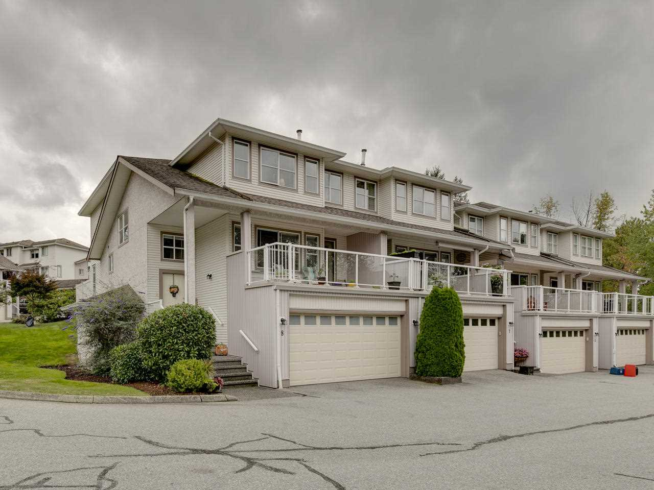 Totally updated 3 bedroom , 3 bathroom townhome in East Maple Ridge. $36,000 spent in upgrades to the kitchen and bathrooms. 1835 sqft on 3 levels plus bonus 350 sqft of bonus storage area in basement. Bright open floor plan with a over sized deck on the front and a great patio area for BBQ's at the back. Bonus is the 240 volt wired in the garage for power tools for recharging your electric car. Gas line is available if you want a gas stove. West coast express station not far away. Shows extremely well