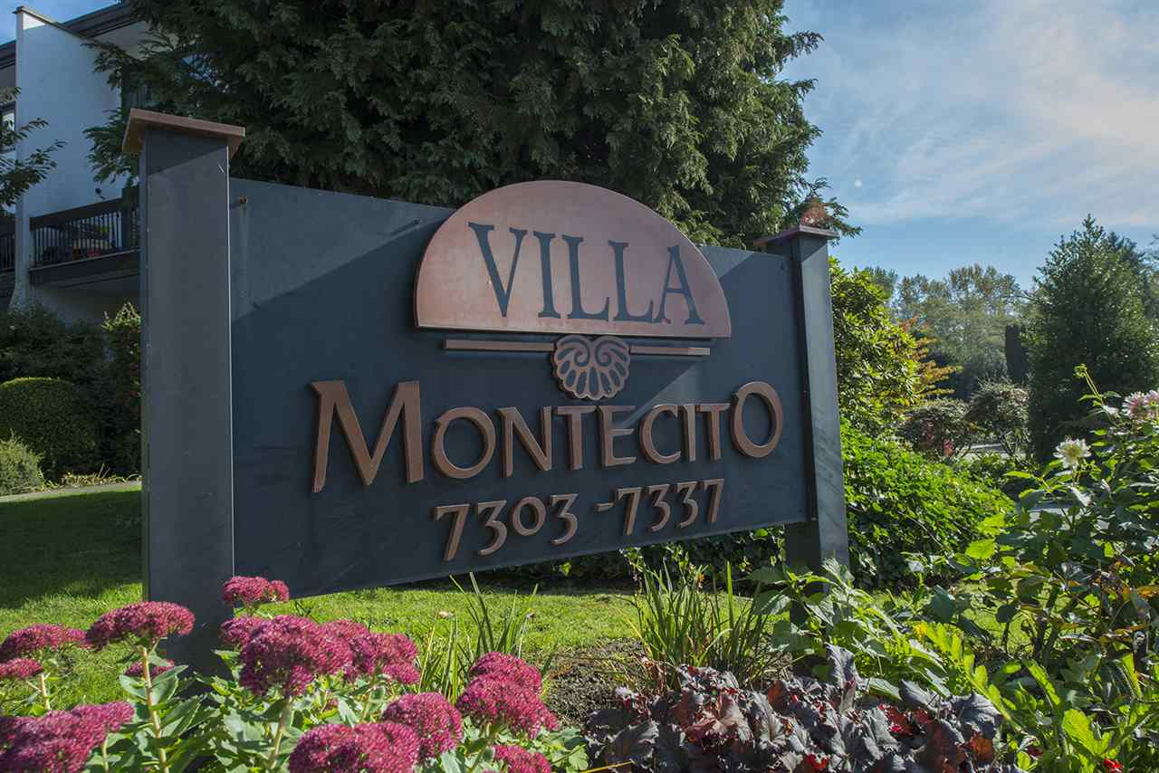Highly desirable two level townhome in Villa Montecito in the serene and traffic calm neighbourhood of Montecito, North Burnaby. Across from Montecito Elementary. Burnaby North Secondary catchment. Burnaby Mountain Golf Course, SFU, recreation and shopping just minutes away. Bus stop on your doorstep and Skytrain only 1km away. Easy access to Lougheed Hwy & Hwy 1. This family home has been recently renovated with laminate flooring, fresh paint, quartz counters, new toilets, vanities and walk in shower. A well managed and maintained Strata, featuring a beautiful garden and outdoor pool. Buy with confidence! Special Levy already paid for!