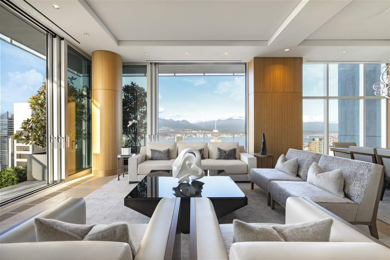 Carefully curated with meticulous attention to detail, this three bedroom and office residence is comprised of close to 4,000 square feet of finely crafted interior living space and accompanied by an additional 1,636 square feet of outdoor living space. Sculpted to take advantage of the breathtaking views of Vancouver, The Penthouse at TELUS Garden was exquisitely re-imagined by the owner and celebrated architects Henriquez Partners & luxury design team at Studio b & ELTE in Toronto. Every piece of this remarkable residence was thoughtfully designed with both intention and purpose. Completing this spectacular residence is a private rooftop patio offering sweeping 360-degree views overlooking the city, accessed by a custom staircase sculpted of glass and steel. Truly one of a kind.