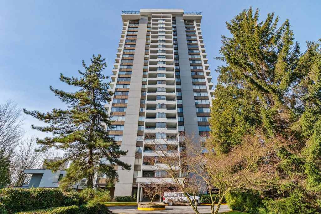 """Concorde Place"" 2 bedroom, 1.5 bathrooms unit facing South with bright and magnificent views, situated on the quiet side of the building with full sized insuite laundry. Well maintained building with pro-active strata,  Steps to Lougheed Mall, Skytrain Station & minutes to SFU. Great investment opportunity. No Rental Restrictions. Great investment opportunity.."