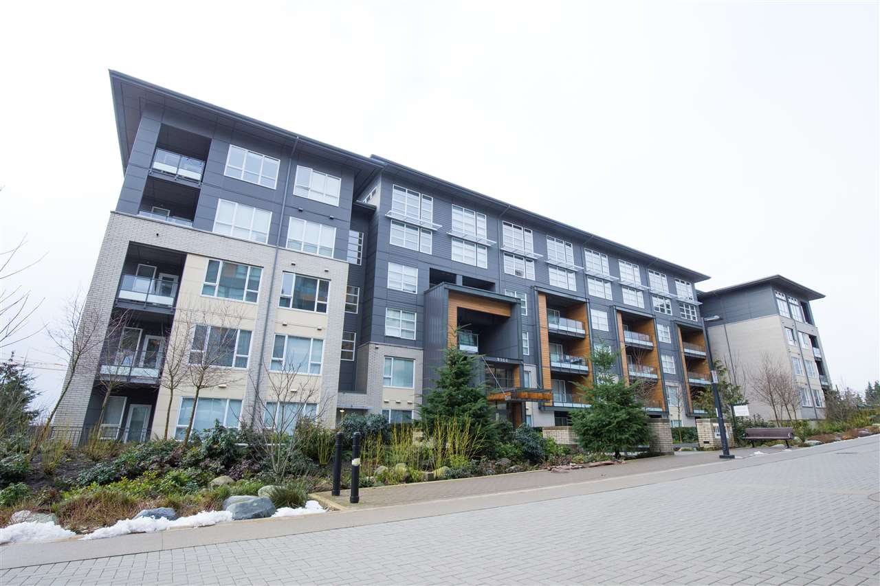 VERITAS by reputable developer, Polygon. This 1 bedroom and 1 bathroom unit is conveniently located at SFU with shopping, restaurants, services and transit access just steps away. Home features radiant floor heating, in-suite laundry and private patio with secondary entrance to the street. Excellent rental income in high demand location - currently leased for $1750/month. Pets allowed. Includes 1 parking and 1 locker. Call today to view this property!
