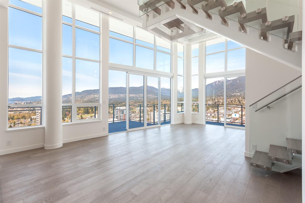 TROPHY PENTHOUSE at Centreview!!!  Imagine taking in the sunset everyday and having unobstructed 270 degree CITY, OCEAN, LIONS GATE BRIDGE and MOUNTAIN views out your 20FT floor to ceiling windows! This spectacular home offers 1,700SF plus over 1,300SF of patio and private rooftop terrace (TOTAL 3000 SF)which includes hot tub, outdoor kitchen w/ BBQ, fireplace & grass area. Top of the line features include gourmet kitchen w/Wolf appliances & Sub Zero fridge, wine fridge, premium wide-plank flooring, stone countertops, A/C, electric blinds, home entertainment system, private elevator & floating staircase. HUGE Master bedroom offers a 5-piece ensuite & walk-in-closet and black out blinds. Private 3 car garage & storage included. BREATHTAKING!