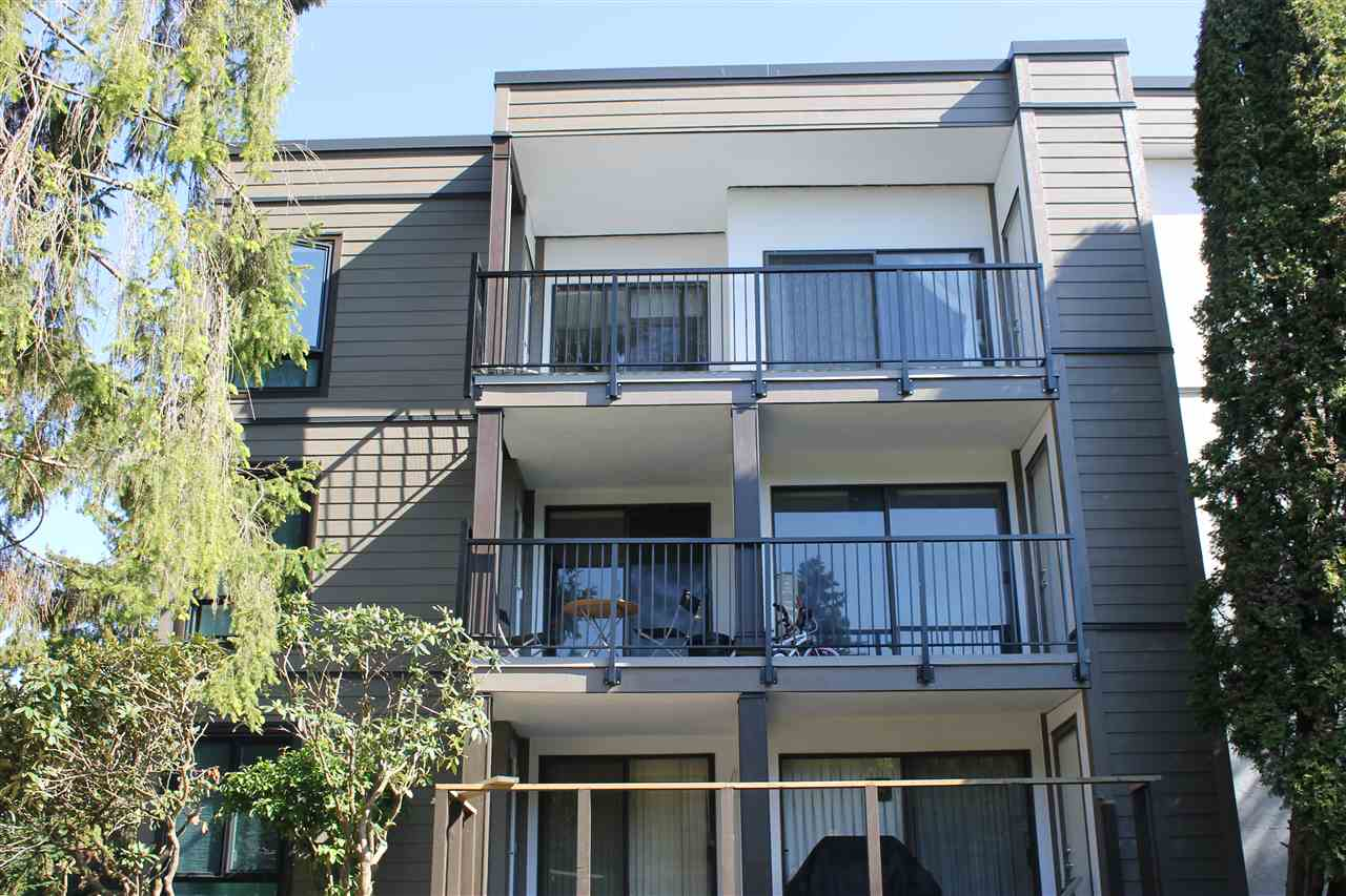 Rarely Available, Top floor (no noise above you), 3 BEDROOM, Bright South facing, Unit in Apple Greene Park, Richmond's best Condo Value! Unit is nice and clean but basically in original condtion. Exterior of complex being redone (decks and roof also) will have a sharp new look! Insuite Laundry hookups! Features eating area in kitchen, nice big and sunny deck. Strata fees include hot water, heat, City Water and Sewer (value of $70 per month) and tremendous Rec facilities which Apple Greene is famous for. 1 covered parking, 1 small dog or cat allowed. Storage Locker plus Storage Room off of Patio. For this size unit in a building that will look new, in great West Richmond location (steps to Seafair Mall, close to dyke walks, Steveston) you can't get a better buy!