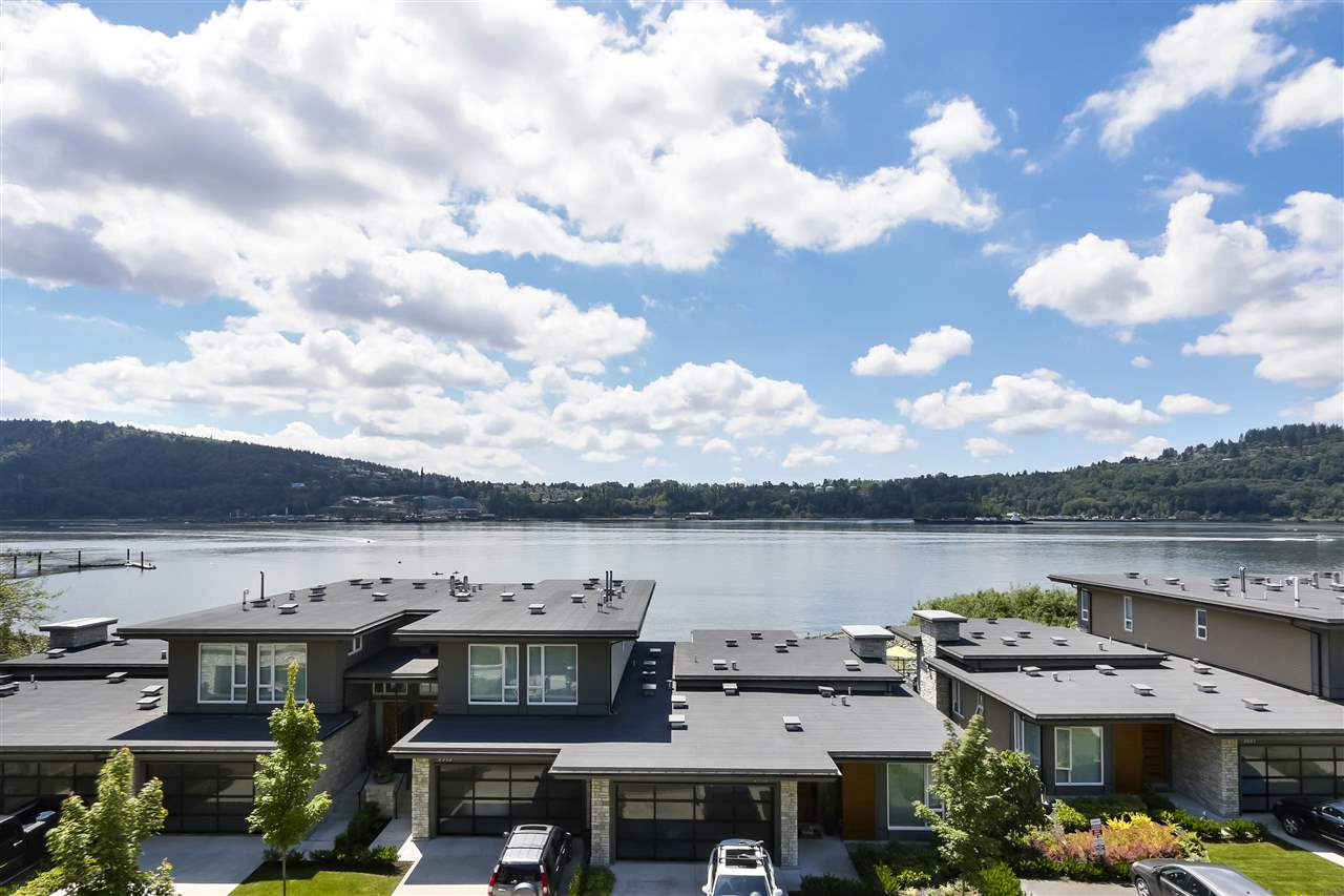 Incredible views- Incredible Lifestyle! Welcome to Cates Landing- your waterfront view paradise. Wonderful, very well priced, near new, 2 bedroom dream home with nice open plan, 9ft ceilings and ample bedroom separation. This mint condition condo is to die for with larger fabulous entertainers kitchen, south facing exposure, a covered deck, 2 full baths and awesome close up water views! This is a perfect home to retreat into solitude or entertain your friends and family in. Perfect location-just steps to swimming beaches, shops, cafe's and Cates Park. Amenities include kayak and bike storage, guest suite, gym and even a dog washing station!