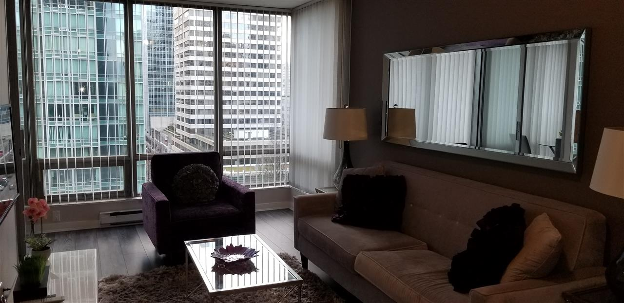 "Beautiful 1 bedroom and den. Den can be used for small bedroom. Excellent floor plan in this well known ""Residences on Georgia"" Walking distance to Coal Harbour, Stanley Park, Robson St., shopping , restaurant , business district and public transit. Showing by appointment only. easy to show"