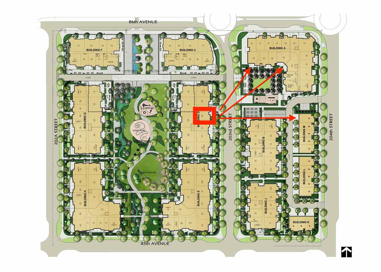 Great opportunity to own a 2 bed+ Den suite at at Yorkson Park. Close to Carvolth Park & Ride. This suite has it all, a retractable glass solarium w/gas connection for BBQ & year round entertaining and laminate throughout the unit NO CARPET!. Gourmet appliances including gas 5 burner cooktop, double oven, quartz countertops, heated tile floors in bathrooms, energy efficient heat pump (AC & heat) and wood closet system and a sound dampening acoustic pkg. 2 U/G parking stalls with private storage locker (with electrical outlet capable of charging car) - #114, #115 Don't miss out!