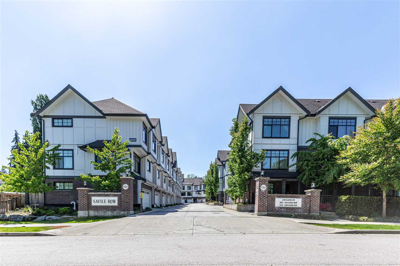Welcome to Savile Row, a collection of 161 Tudor-inspired townhomes in Central Burnaby, just minutes to Burnaby Central Secondary, Hwy 1, Deer Lake and Burnaby Lake. This 2 Bed 2.5 Bath townhouse is in the centre of the complex, quiet and convenient access with large attached garage for 2 cars and plenty of storage. This home offers a open concept main floor kitchen with island / gas range, dining room with sliding door to private patio and big bright living room windows. Enjoy a bright and airy feeling with 9 ft ceilings throughout. Call to book your private tour, by appointment only.