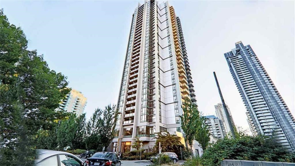BEST VALUE IN THE OBELISK! unit with mountain/city views, easy walk to shopping, dining & transit, Aquatic Centre & Library, Douglas College, Pinetree Secondary, maximizes space for this one bedroom PLUS den, Low strata fees.