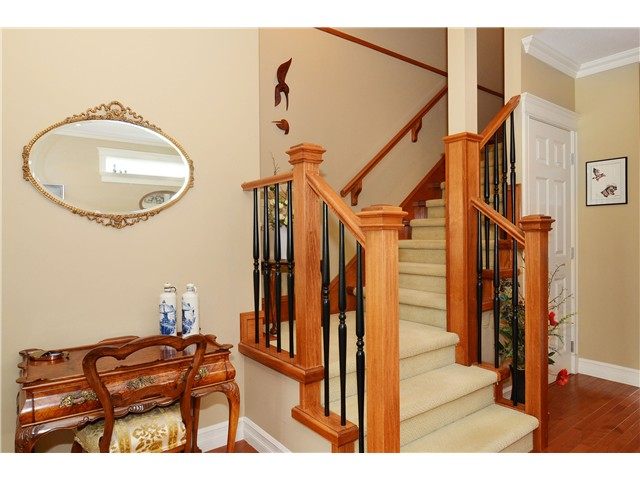 Staircase to the upstairs bedrooms