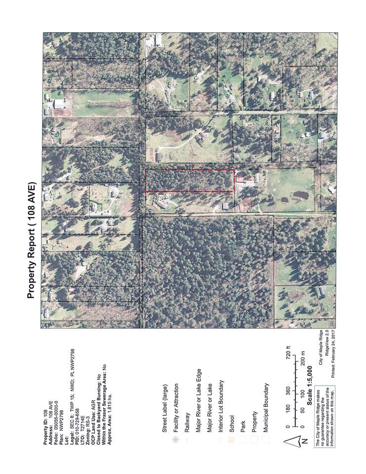Excellent opportunity to build your dream home on 4.56 acres in the beautiful Whonnock area of Maple Ridge. Lot runs north/south and is gently sloping to the south. Great holding property, build now or develop later.