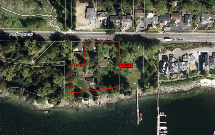 Rare real 1st line waterfront property close to 60,000sq ,unblocked water view step to beach, now in the processing of subdividing to 6 RS3 strata lots with its own pid, all subdivision related documents are in the attachment. the whole subdivision will be finished by the end of 2017 or latest the beginning of 2018. Asking price just as listed date. It will be different due to the different stage of subdivision progress. Most desirable location walk distance to golf course, shopping and transit. Boat dock can be arranged with the neighbour. School catchment: Seycove Secondary&Sherwood Park Elementary