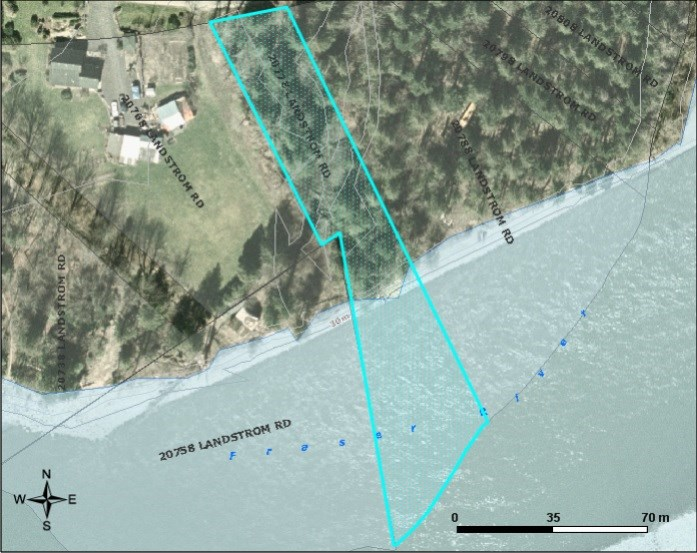 Rare Fraser River waterfront acreage! Spectacular 1.60 acre parcel fronting on the scenic Fraser River! This level serviced (water well, hydro & septic) property is ready for your RV, cabin, or home. Located on a no thru road, yet only a short drive to schools, shopping, recreation & easy freeway access. These properties are rare and hard to find!  Call today for details & to book your showing.