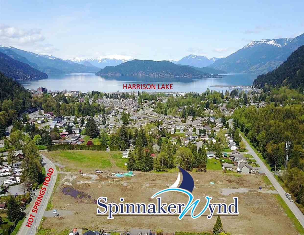 Harrison Hot Springs new development! Spinnaker Wynd, first phase of 35 single family lots. Fully services, great location walking distance to the lake. Once in a lifetime opportunity to own in a new development close to the lake! Comprehensive development will include homes, attached homes & townhomes in future phase. Info package available. Don't delay!
