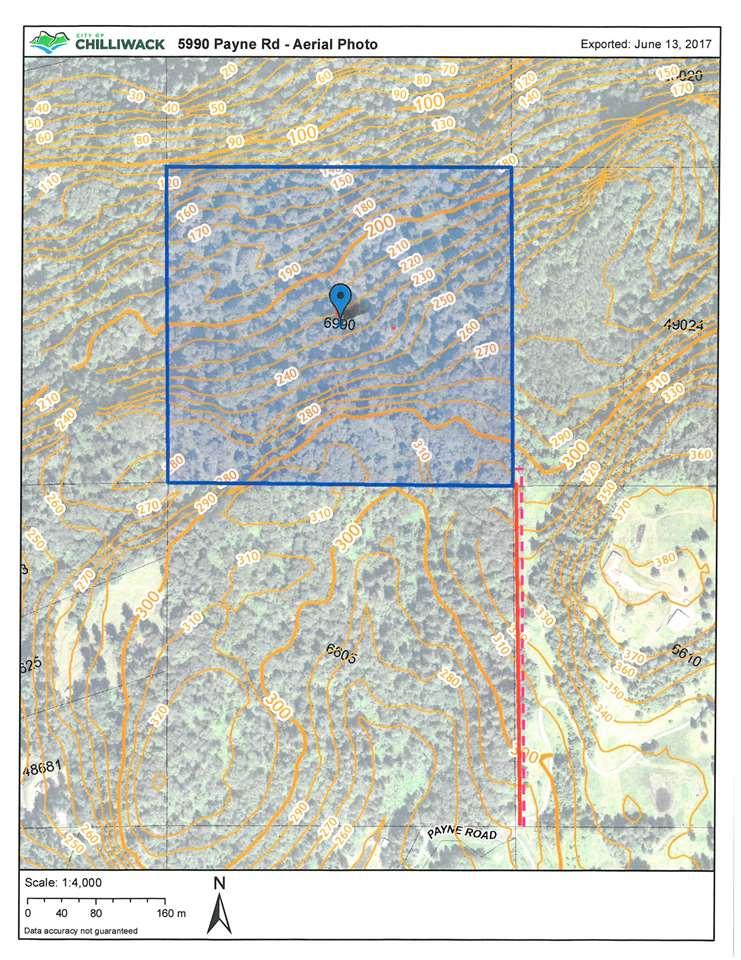 Bare land property. Land-locked. Access via easement across adjacent property.