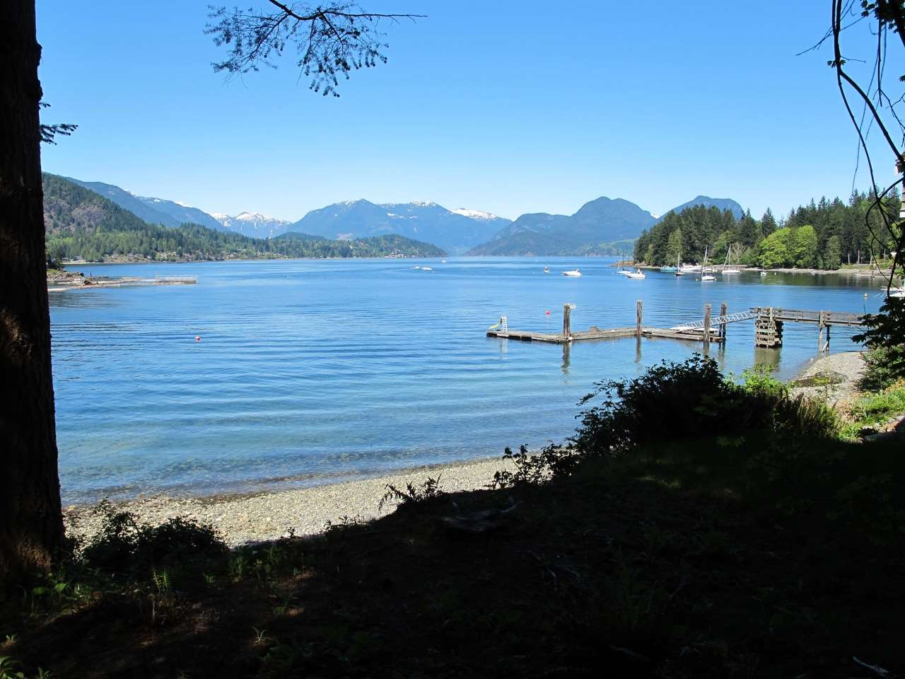 1.5 ACRES OF WATERFRONT! Gorgeous & exclusive rare opportunity to own a PRIVATE piece of waterfront in Plumpers Cove on Keats Island. 17 acres of common land included with private walking trails and roads cut. Private access to beach with superb NW views of Plumpers Cove + Gambier Island and local mountains. This property has a shared dock + tennis court & tons of privacy due to its size, location and positioning in the bay. Preliminary Plans and architectural drawings for spectacular large new home available with sale.