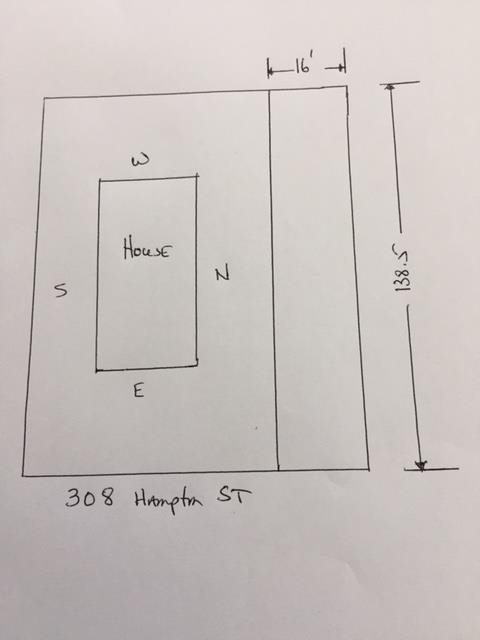 312 Hampton Street for sale on mls, r2174550, The 16 feet can not be built on, unless you purchase the neighbouring property and subdivide into 2 lots