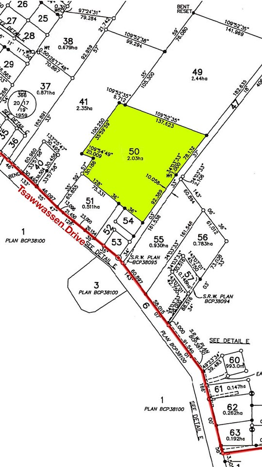 """Builder and Investors alert � Rarely available 5 acre parcel for sale located  on Tsawwassen First Nations land. Large portion designated """"E1"""" as part of official neighbourhood plan. Documents available. Zoned RS-1 residential single family with potential to rezone to increase density. Get in on the rapidly growing Tsawwassen first nations land. Lot 50 is close to the new Tsawwassen Mills Shopping Mall and Tsawwassen Shores development. Property offers gorgeous potential views with easy access to highway, transit, beaches, golf courses, restaurants, B.C. ferry terminal, and Point Roberts border. Tsawwassen also known for top ranked South Pointe private school. Bonus: exempt from 15% foreign Tax for non-resident Buyers.  Please contact for more information and access to property."""