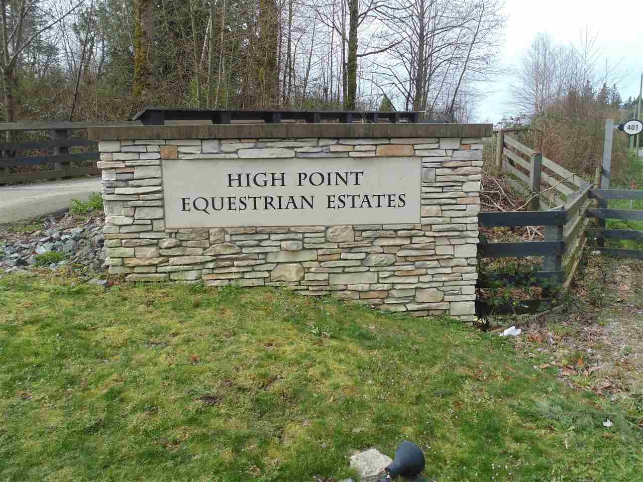The wait is over, build your dream home in beautiful High Point Estates in South Langley. Your future home will boast breathtaking unobstructed views of the North Shore Mountains and city lights. This 26,573 Sq ft lot is well situated in High Point Estates and overlooks most of the subdivision located on 258 acres with 85 acers of parkland, 9km of trails, a spring fed lake and forest.
