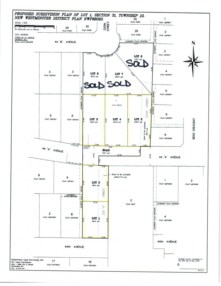 INCREDIBLE FIND - BUILD YOUR DREAM HOME! Beautiful level 1/4 to 1/3 acre building lots with no creeks. Lot 3 is 12,729 sq/ft and in the 21900 block of 44A Ave. Fantastic neighbourhood in upper Murrayville. City water and city sewer. Area of high end homes. Minutes to everything. Anticipated to be ready Nov 2017. Get your offer in now and your plans ready. Don't hesitate call now!