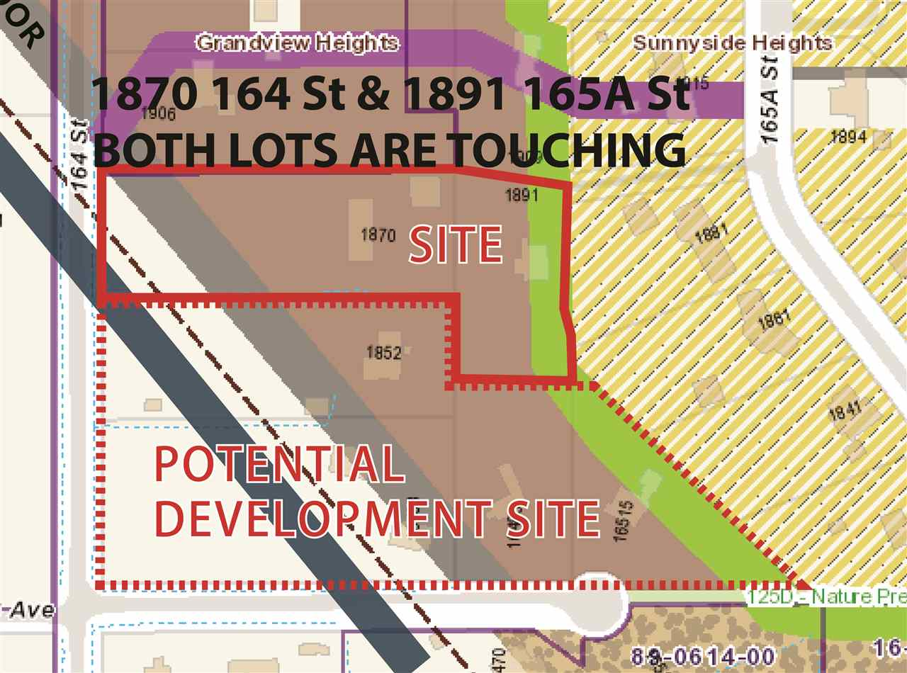 Clean 1792 sq.ft rancher with unfinished basement and heated 2000 sqft shop with 14ft high doors. 1.8 acres designated 30-45 UPA (Units per acre)  in N.C.P. of Grandview Heights development plan. N.C.P. 2 was approved November 15, 2010. Overhead hydro wires beside property. Rented for $2085 per month. Proposed architecture plans available. Potentially rezone to multi family.