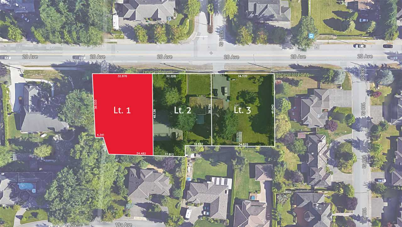 Bell Park - Exceptionally located and rarely available, south facing, 14,843sf, RH-G building lot. Excellent opportunity to build your dream home in one of South Surrey's most sought-after locations. Square, level lot. Approximate lot dimensions: 108'x135'. Proposed subdivision plan supports 2 storey plus in-ground basement home. Two other adjacent 15,000sf lots also available. Subdivision currently in process with PLA in place. Property is centrally located with nearby parks, schools, shops and recreation within walking distance or short drive. (Please do not walk property without permission). Call today for more information!